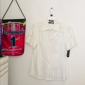 New with tags White button up shirt